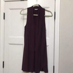 Wilfred Plum dress with draw string